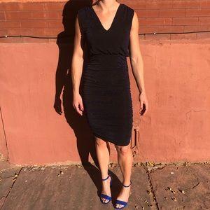 Alice + Olivia Blue Shimmer Cocktail Dress